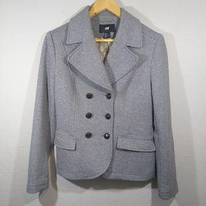 H&M Grey Fully Lined Jersey Knit Blazer Jacket